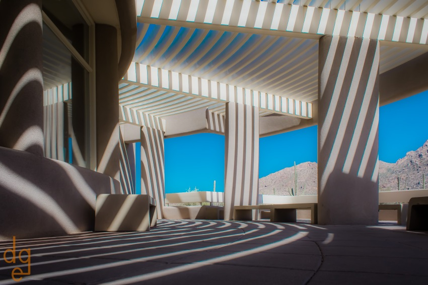 Visitors center at Saguaro National Park West. Arizona