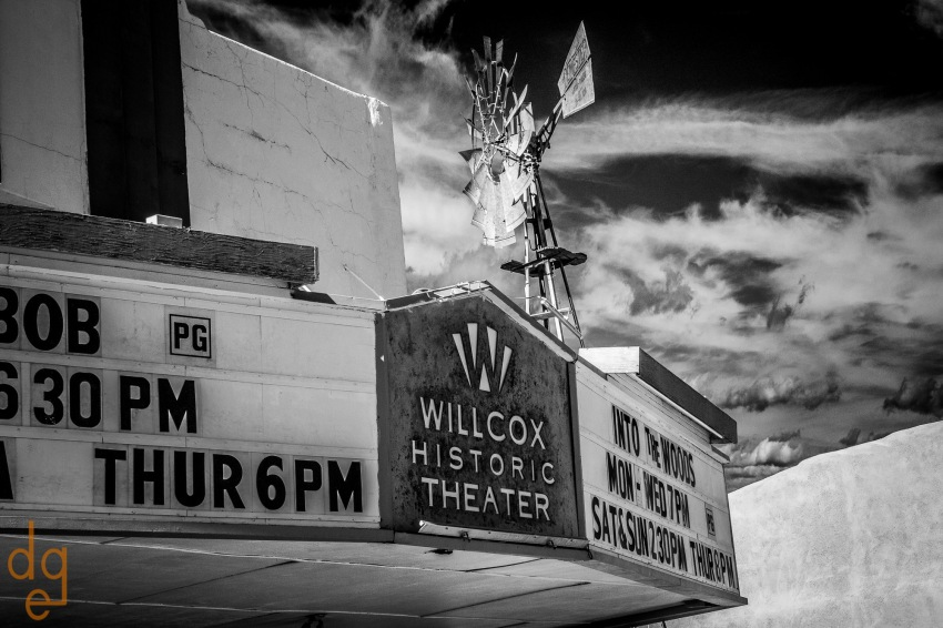Willcox Theater and Windmill-Edit